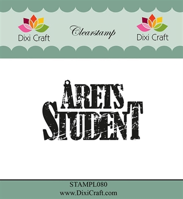 Happymade - Dixi Craft Clear Stamp - STAMPL080 - Årets Student (288880)