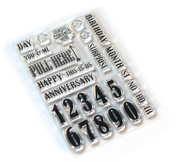 Happymade - Elizabeth Craft Designs - Clear stamp - Pieces of Life 1 (CS160)