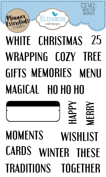 Happymade - Elizabeth Craft Designs - Clear stamp - Planner Winter Words (CS142)