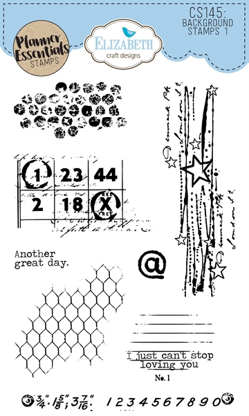 Happymade - Elizabeth Craft Designs - Clear stamp - Planner Background Stamps 1 (CS145)