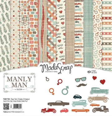 "Happymade - ModaScrap - Paper Pack - 12x12"" - Manly Man (MMPP12)"
