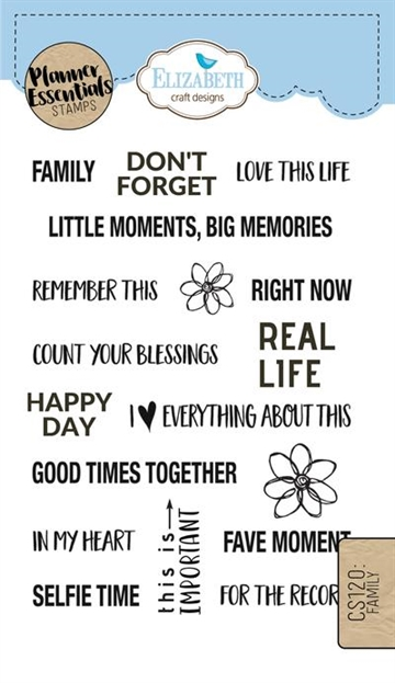 Happymade - Elizabeth Craft Designs - Clear stamp - Planner Family (CS120)