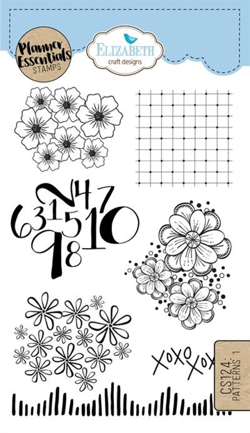 Happymade - Elizabeth Craft Designs - Clear stamp - Planner Patterns 1 (CS124)
