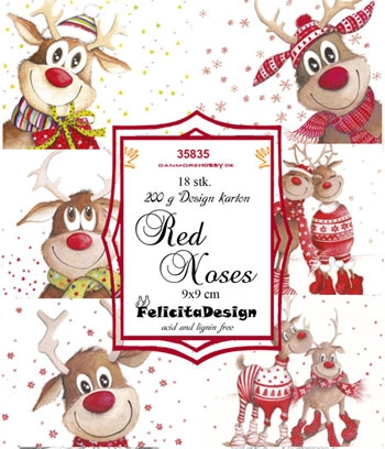 Felicita Design Toppers 9x9cm - Red Noses 35835