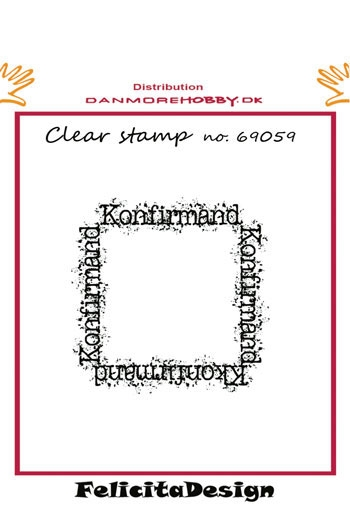 Happymade - Felicita Design clear stamp - Konfirmand - 69059