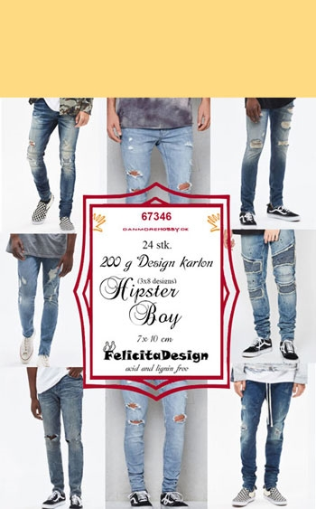 Happymade - Felicita Design Toppers 10x7cm - Hipster Boy 67346