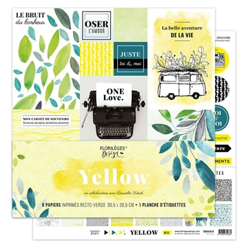"Happymade - Florilèges Design - 12x12"" - Paper Pack - Yellow (FDPI41918)"