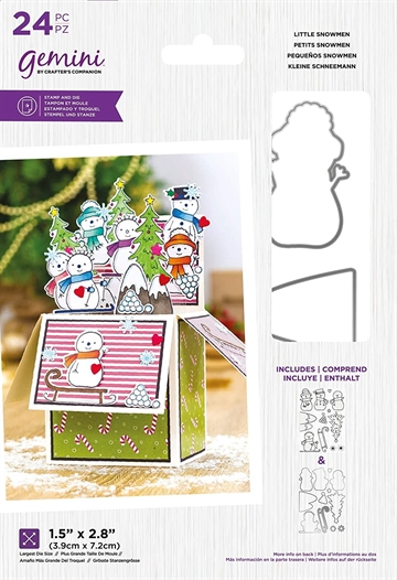 Happymade - Crafter's Companion - Clear Stamp + die - Little Snowmen (GEM-STD-LITEN)