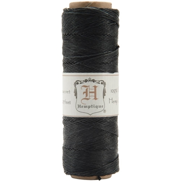 Happymade - Hemptique - Hemp Cord (hampsnøre) - Sort (#10)