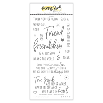 Happymade - Honey Bee Stamps - Stamp - Friendship