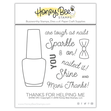 Happymade - Honey Bee Stamps - Stamp - Shine On