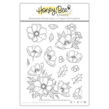 Happymade - Honey Bee Stamps - Stamp - Winter Anemone