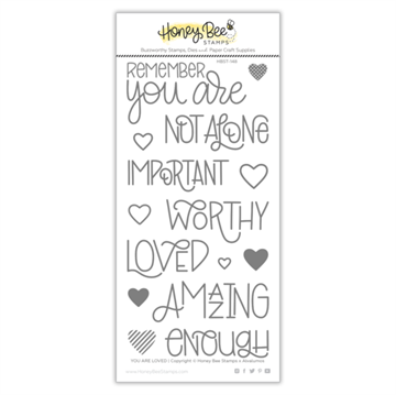 Happymade - Honey Bee Stamps - Stamp - You Are Loved (BEKÆMP MOBNING)