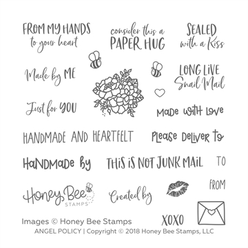 Happymade - Honey Bee Stamps - Stamp - Angel Policy