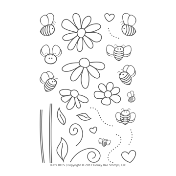 Happymade - Honey Bee Stamps - Stamp - Busy Bees