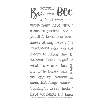 Happymade - Honey Bee Stamps - Stamp - Bee You Tiful Sentiments