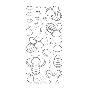 Happymade - Honey Bee Stamps - Stamp - Build a Bee