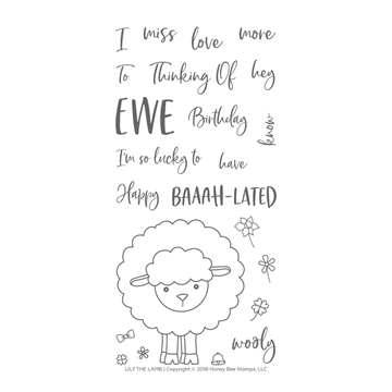 Happymade - Honey Bee Stamps - Stamp - Lily The Lamb