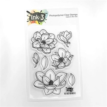 Happymade - InkOn3 - Stamp - Big Bold Magnolias