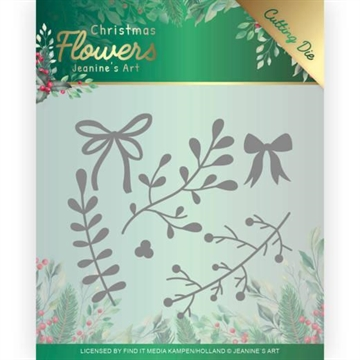 Happymade - Jeanine's Art die - Christmas Flowers - Mistletoe - JAD10106