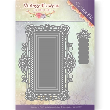 Happymade - Jeanine's Art die - Floral Rectangle - JAD10035