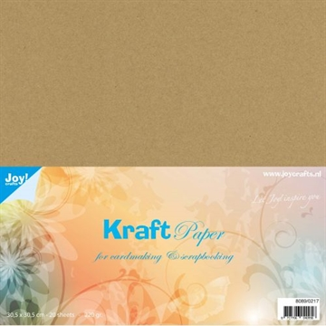 "Happymade - Joy! Kraft Paper - 12x12"" (Pakn. m/20 ark) - 8089/0217"