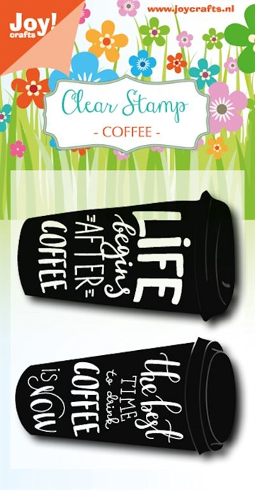 Happymade - Joy Clear Stamp - Coffee - Life begins... (6410/0475)