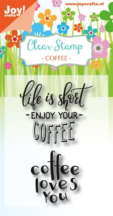 Happymade - Joy Clear Stamp - Coffee - Life is short... (6410/0476)