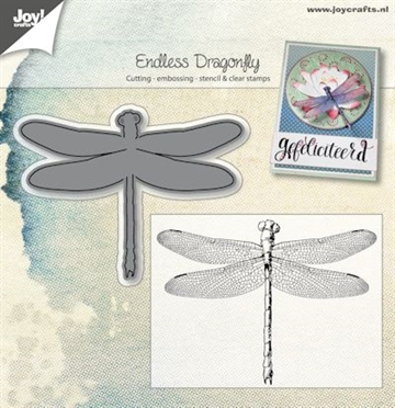Happymade - Joy Clear Stamp w/die - Endless - Dragonfly (6004/0025)