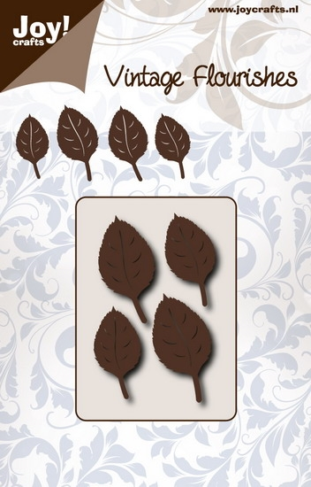 Happymade - Joy - Vintage Flourishes - Beech leaves - die - 6003/0081