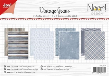 Happymade - Joy! A4 Papers - Vintage Jeans - 6011/0621