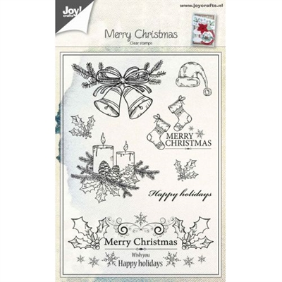 Joy Clear Stamp - Merry christmas - Christmas candles/bells (6410/0443)