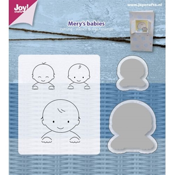 Happymade - Joy Clear Stamp w/die - Mery's babies (6004/0018)