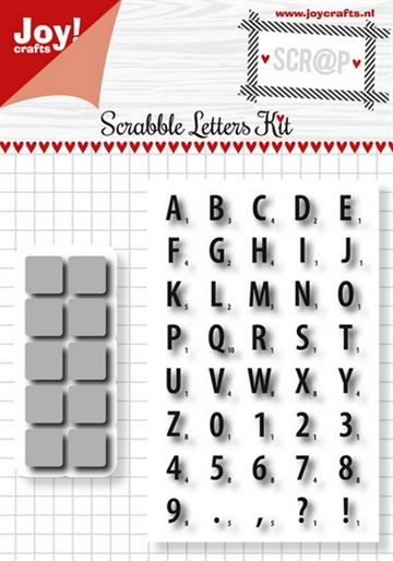 Joy Clear Stamp w/die - Scrabble Letters Kit (6004/0016)