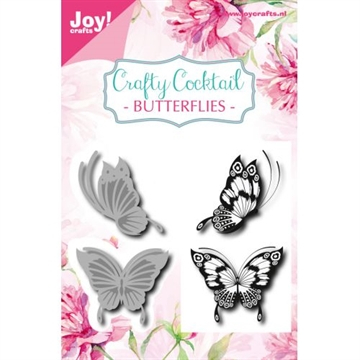 Happymade - Joy Clear Stamp w/die - Butterflies (6004/0014)