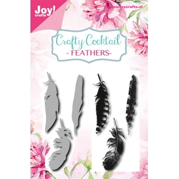Happymade - Joy Clear Stamp w/die - Feathers (6004/0015)