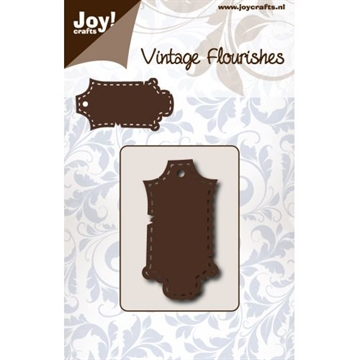 Joy - Vintage Flourishes - Label stitched - die - 6003/0079