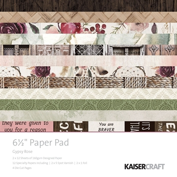 "Happymade - KaiserCraft paper pad 6½x6½"" - Gypsy Rose"