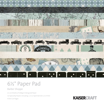 "Happymade - KaiserCraft paper pad 6½x6½"" - Barber Shoppe"