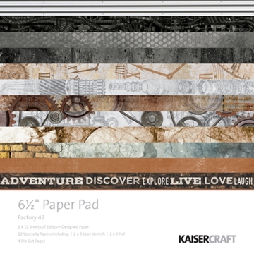 "Happymade - KaiserCraft paper pad 6½x6½"" - Factory 42"