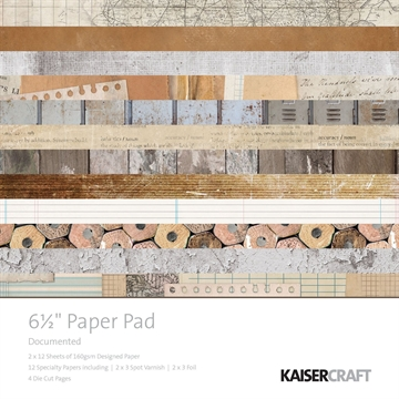 "Happymade - KaiserCraft paper pad 6½x6½"" - Documented"