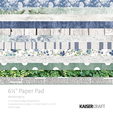 "Happymade - KaiserCraft paper pad 6½x6½"" - Wandering Ivy"