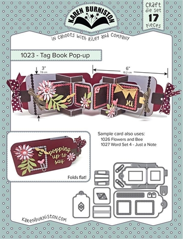 Happymade - Karen Burniston - Die - Tag Book Pop-up (1023)
