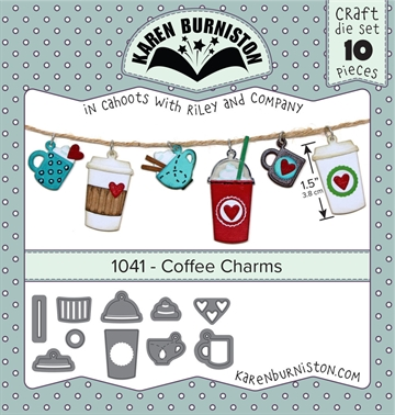 Happymade - Karen Burniston - Die - Coffee Charms (1041)