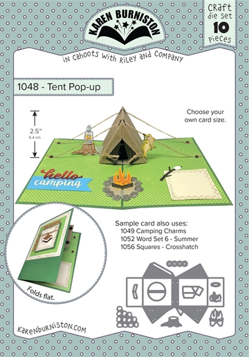 Happymade - Karen Burniston - Die - Tent Pop-up (1048)