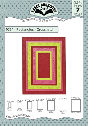 Happymade - Karen Burniston - Die - Rectangles - Crosshatch (1054)