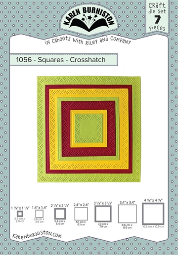 Happymade - Karen Burniston - Die - Squares - Crosshatch (1056)