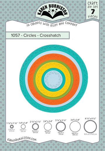 Happymade - Karen Burniston - Die - Circles - Crosshatch (1057)