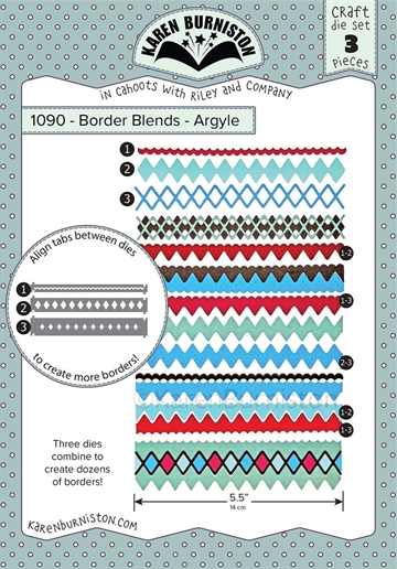 Happymade - Karen Burniston - Die - Border Blends - Argyle (1090)