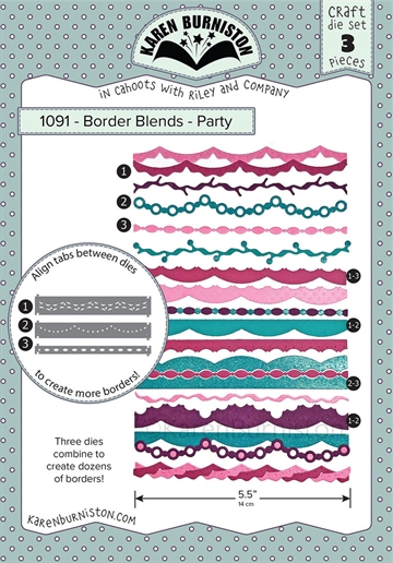 Happymade - Karen Burniston - Die - Border Blends - Party (1091)